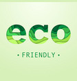eco friendly placard vector image vector image