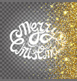 effect flying particles gold luster luxury design vector image vector image