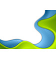 green and blue abstract waves corporate background vector image vector image