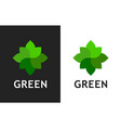 green organic logo design - logo icon vector image