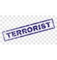 grunge terrorist rectangle stamp vector image