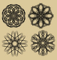 guilloche set black filigree lace patterns on vector image vector image