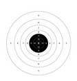gun shooting paper targets with white backg vector image