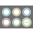 hi-tech light buttons vector image vector image