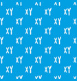 human chromosomes pattern seamless blue vector image vector image