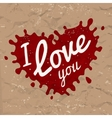 I love you lettering in splash design vector image