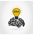 Idea of a brain vector image vector image