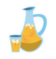 jug filled with citrus beverage icon image vector image