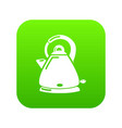 kettle electric icon green vector image vector image