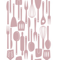 kitchen utensils seamless vector image vector image