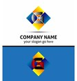 Letter G Company logo icon template set vector image vector image