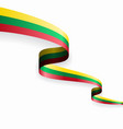 lithuanian flag wavy abstract background vector image