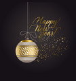 luxury black and gold abstract xmas pattern vector image vector image