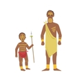 Man And Boy From African Native Tribe vector image vector image