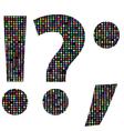 multicolor question mark vector image