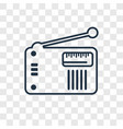 old radio with antenna concept linear icon vector image