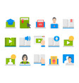 online education e-learning icons vector image vector image