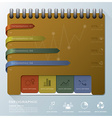organize notebook business infographic design vector image vector image