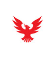 phoenix flying bird red eagle open wings logo vector image vector image