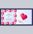poster banner or card frame border with love vector image vector image