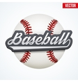 Premium Baseball label vector image