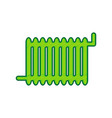 radiator sign lemon scribble icon on vector image vector image