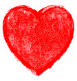 red heart sign with paint texture vector image vector image
