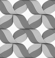 Ribbons gray shades crosses pattern vector image vector image