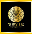 ruby luxury logo - jewelry shop vector image