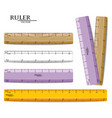 rulers set realistic drawing set isolated vector image vector image