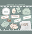scrapbooking elements paper stickers set vector image vector image