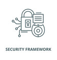 security framework line icon linear vector image