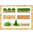 Set of elements for landscape design vector image vector image