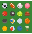 Set of sport balls isolated vector image