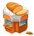 Shop for sale fresh bread and pastries vector image
