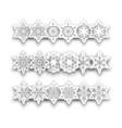snowflakes christmas set vector image