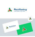 socks logotype with business card template vector image vector image