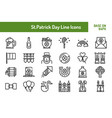 stpatricks day icon set outline icon base on 64 vector image vector image