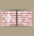 stripe pink gold foil and marble cover set vector image