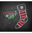 Striped Christmas sock vector image vector image