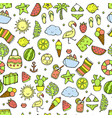 summer pattern watermelon pineapple and holiday vector image vector image
