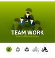 Team work icon in different style vector image vector image