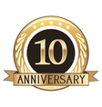 Ten Year Anniversary Badge vector image