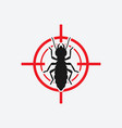 termite icon red target insect pest control sign vector image vector image