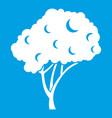 tree icon white vector image vector image