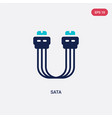 two color sata icon from electronic devices vector image vector image