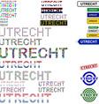 Utrecht text design set vector image vector image