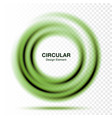 vortex green gradient round banner vector image