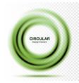 vortex green gradient round banner vector image vector image