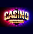welcome casino bonus banner first deposit bonus vector image vector image